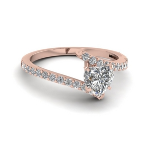 Bypass Crossover Diamond Ring