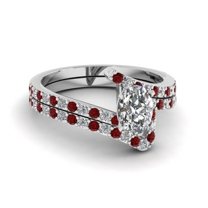 Bypass Ruby Bridal Ring Set