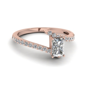 bypass radiant diamond engagement ring in FDENS3007RAR NL RG GS