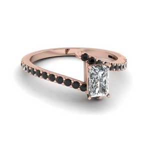 bypass radiant engagement ring with black diamond in FDENS3007RARGBLACK NL RG GS