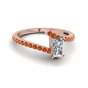 bypass radiant diamond engagement ring with orange sapphire in FDENS3007RARGSAOR NL RG GS