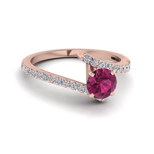 Crossover Pink Sapphire Ring