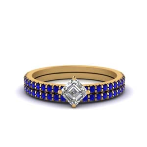 Sapphire Wedding Ring Set