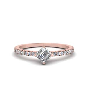 Asscher Diamond Kite Set Ring