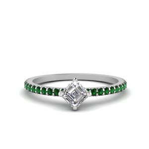 Simple Emerald Engagement Rings