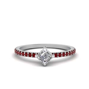 Ruby Kite Pattern Engagement Ring