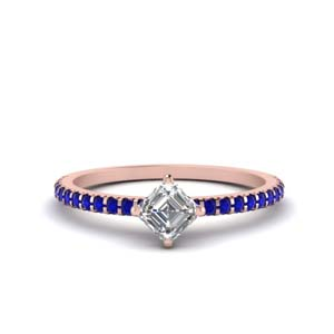 Kite Set Sapphire Engagement Ring
