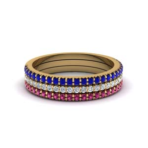 Stacking Bands With Gemstones