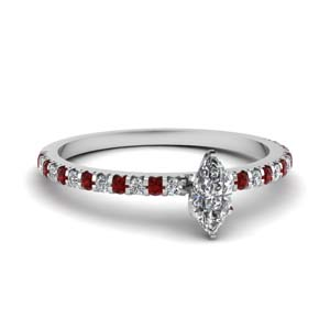 Ruby Petite Wedding Ring