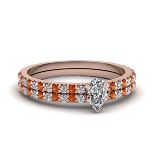 Floating Thin Diamond Ring Set