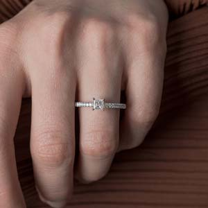 Thin Lab Created Diamond Ring