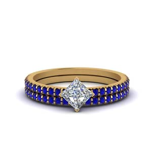 Kite Set Sapphire Wedding Ring Set