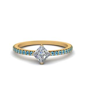 Blue Topaz Petite Engagement Ring