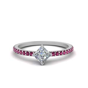 Petite Pink Sapphire Engagement Ring