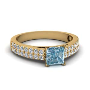 Classic Aquamarine Wedding Ring