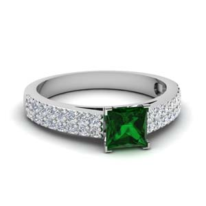 Emerald Princess Cut Ring