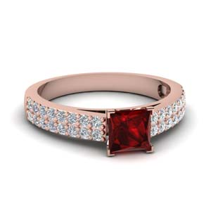 Ruby Colored Engagement Ring