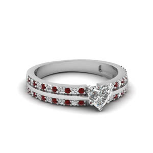 Engagement Ring With Ruby