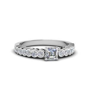 One Carat Bezel Set Engagement Ring