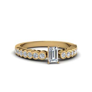 Emerald Cut Lab Created Diamond Ring