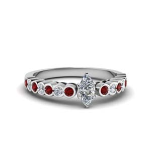 Marquise Shaped Ruby Ring