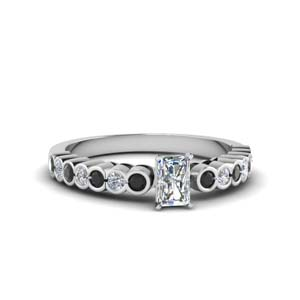 Bezel Side Stone Engagement Ring