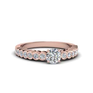 One Carat Rose Gold Ring