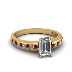 Delicate Ruby Engagement Ring