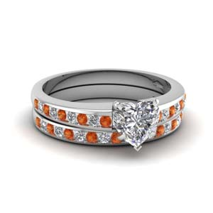 Channel Wedding Ring Set