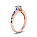 heart channel diamond with sapphire ring in FDENS3018HTRGSABLANGLE2 NL RG