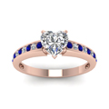 heart channel diamond with sapphire ring in FDENS3018HTRGSABLANGLE5 NL RG