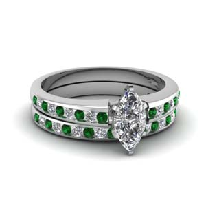 Emerald Channel Set Ring