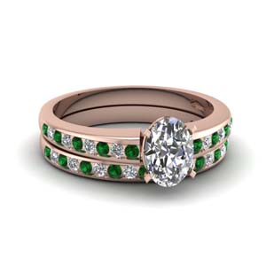 Oval Shaped Wedding Ring Set