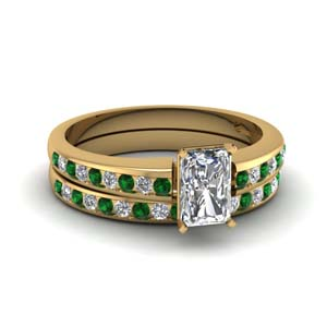 Radiant Diamond Ring And Band