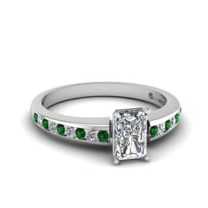 Emerald Petite Engagement Ring