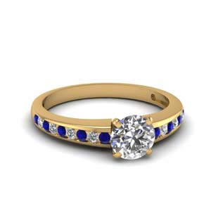 Sapphire Channel Diamond Ring