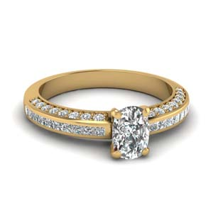 Accent Diamond Engagement Ring