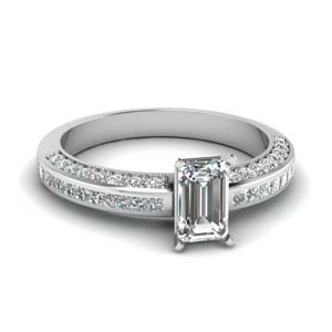 Emerald Cut diamond Unique Ring For Women