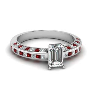 Channel Set Ruby Ring