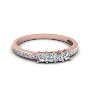 4 Diamond Channel Set Band