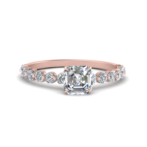 Asscher Cut Moissanite Ring