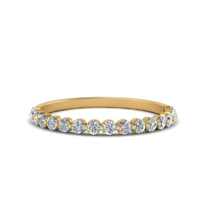 Thin Round Diamond Band For Her
