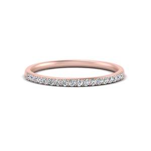 0.15 Ct. Thin Curved Diamond Band