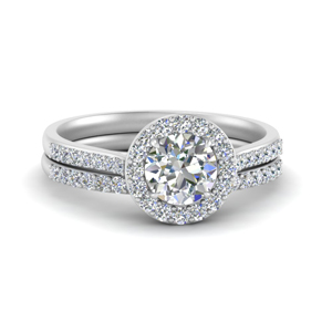 Halo Man Made Diamond Ring Thin Band