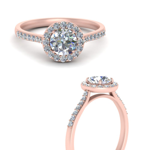 Classic Halo Round Moissanite Ring