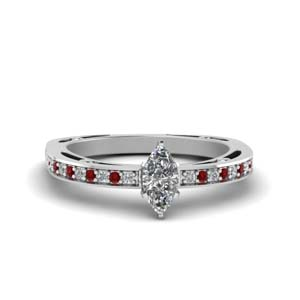Delicate Petite Ring With Ruby