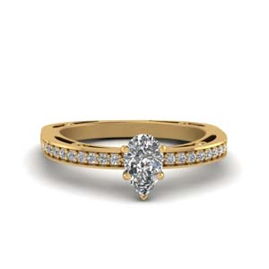 Pear Diamond Petite Pave Ring