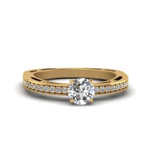 Round Diamond Ring 0.50 Ct.
