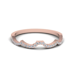 Fancy Curve Rose Gold Band