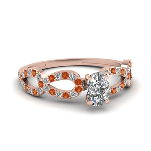 Rose Gold Cushion Infinity Ring